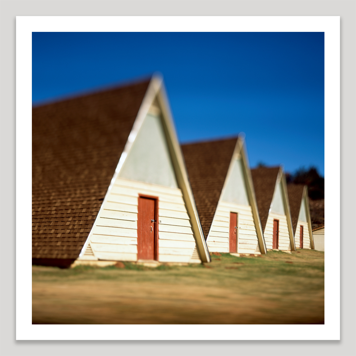 A-frame cottages